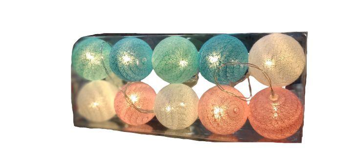 Luminária bolas coloridas 1 unidade