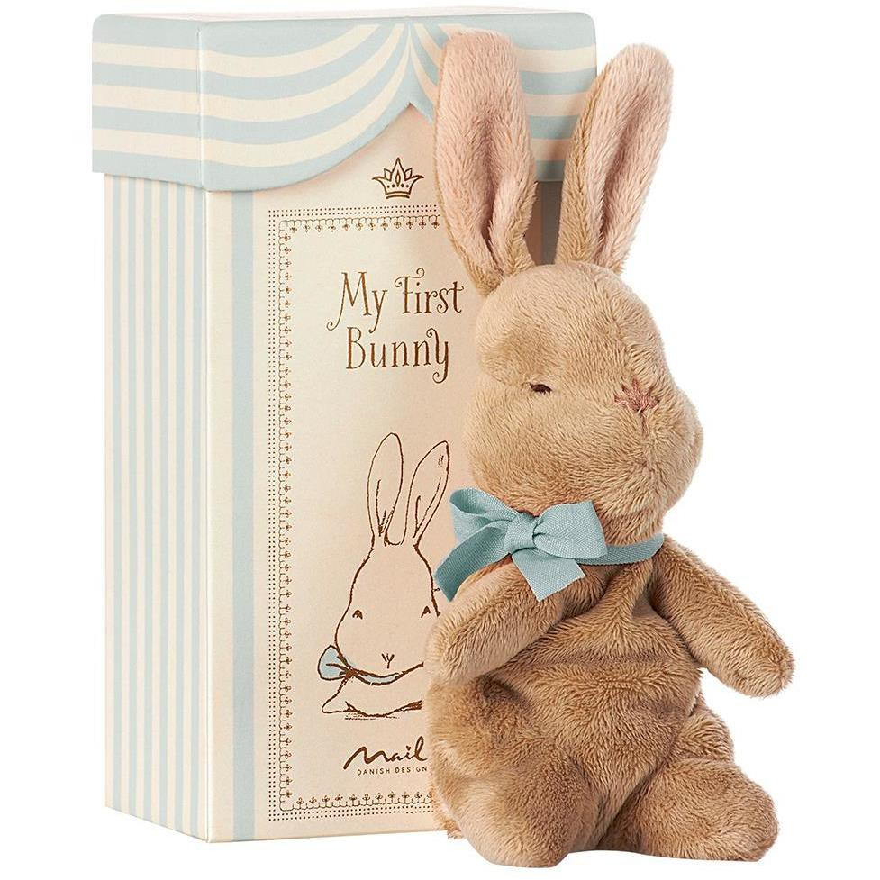 Maileg - my first bunny in box, blue 7.48 in