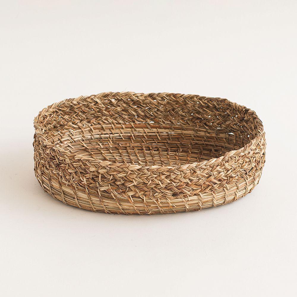 Panera trenzada de fibra vegetal de manila