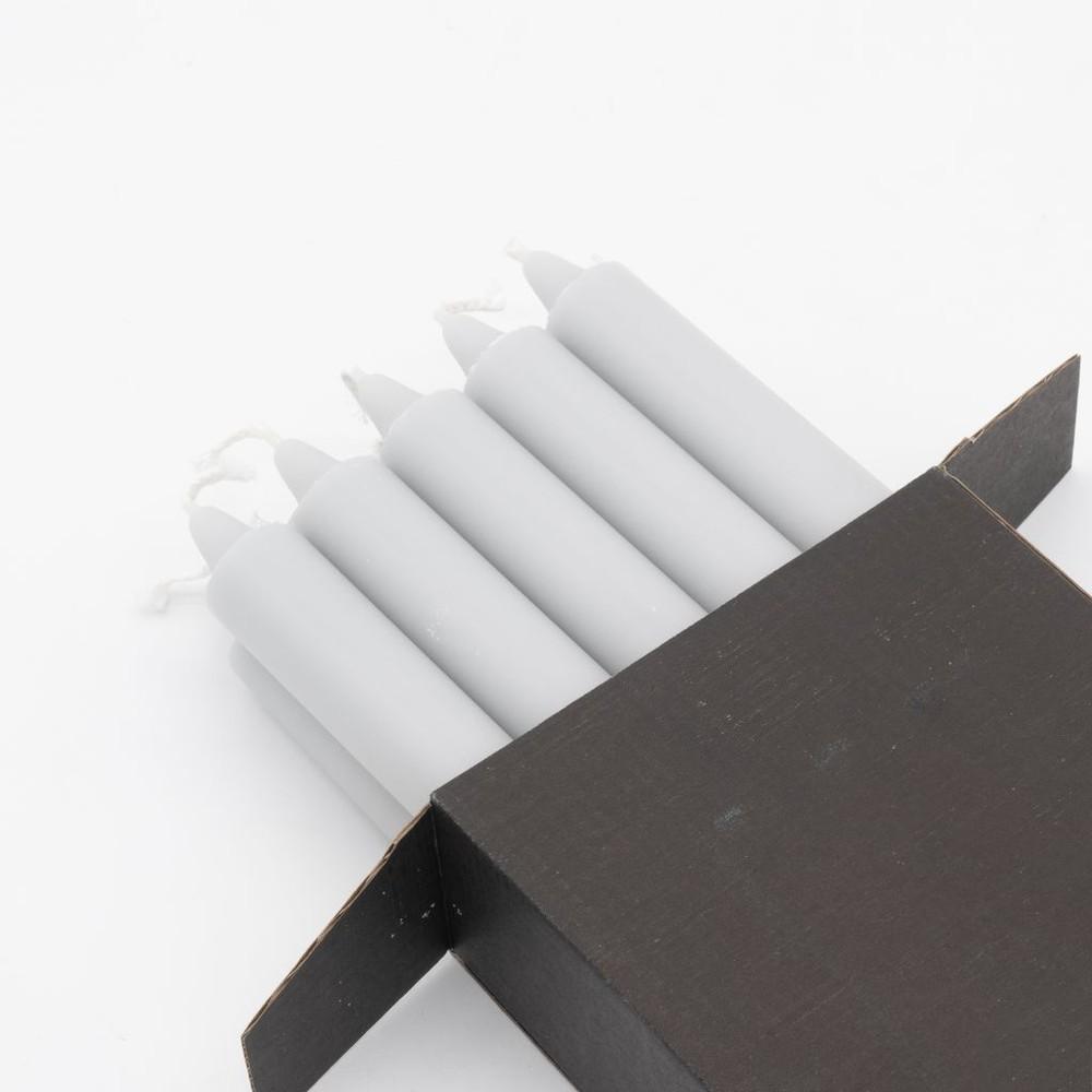 Vela caja 10 unidades cool grey
