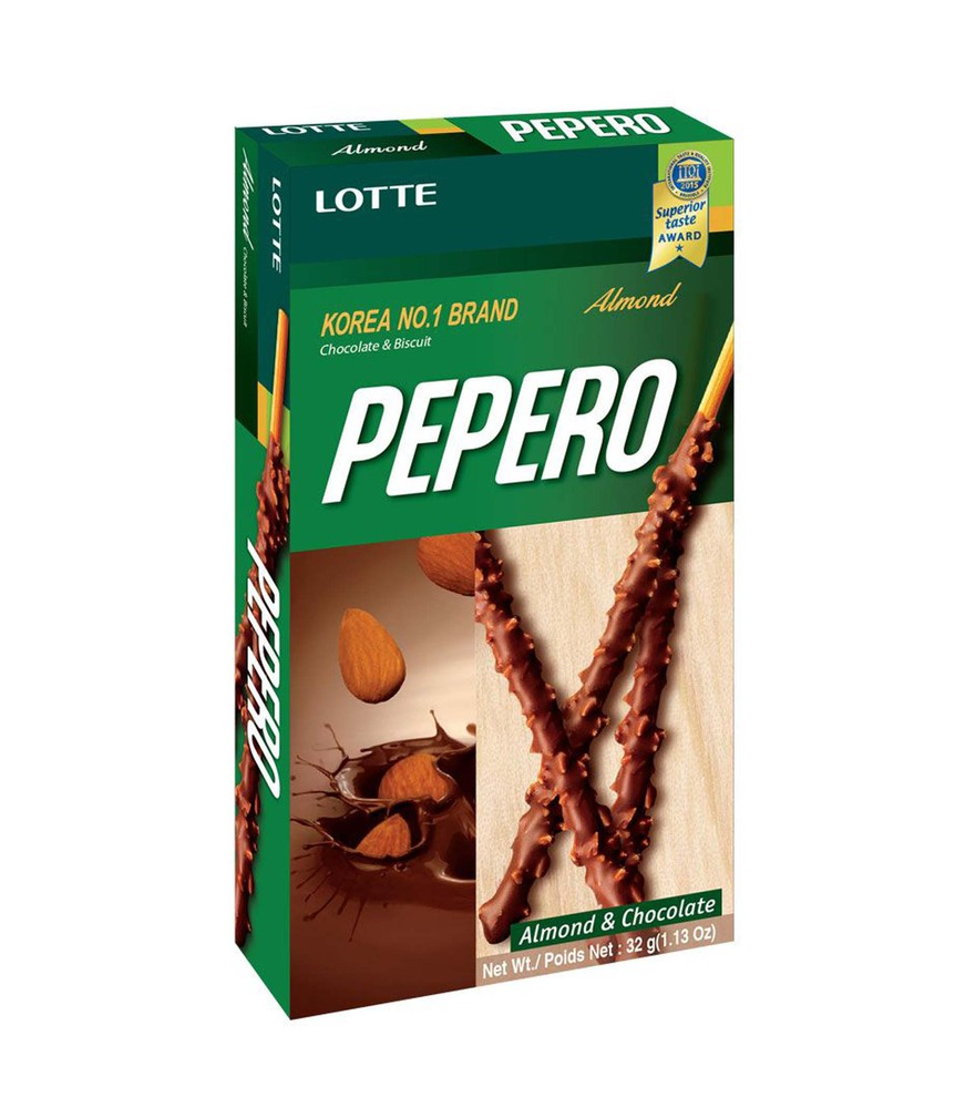 Pepero stick biscuit with almond & chocolate