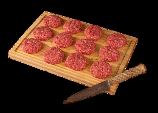 Carne res mini hamburguesa 12 u x 50 g c/u