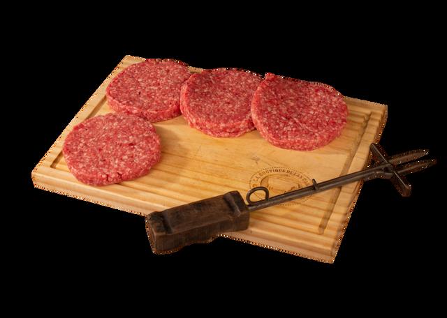 Carne de res para hamburguesa 4 u x 150 g c/u