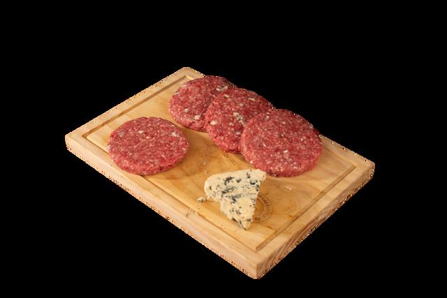 Hamburguesa queso cheddar y jalapeños 4 u x 150 g c/u
