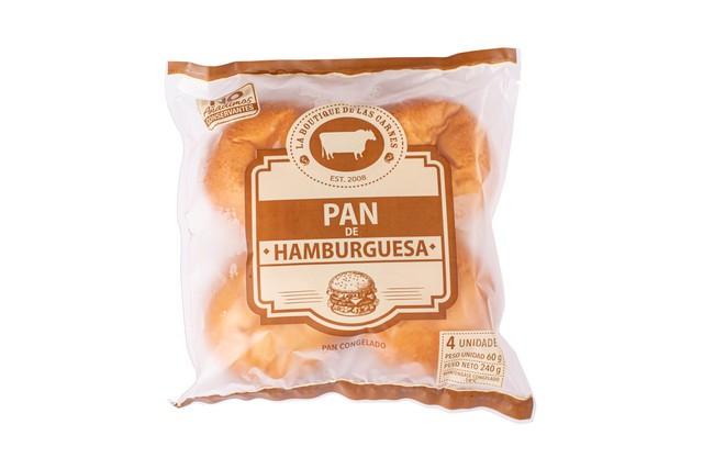 Pan hamburguesa grande 4 un, 60 g c/u