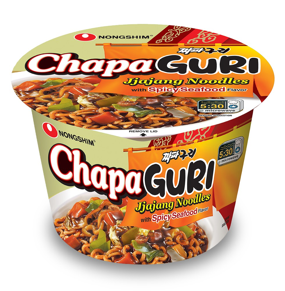 Chapaguri jjajang noodles with spicy seafood flavour