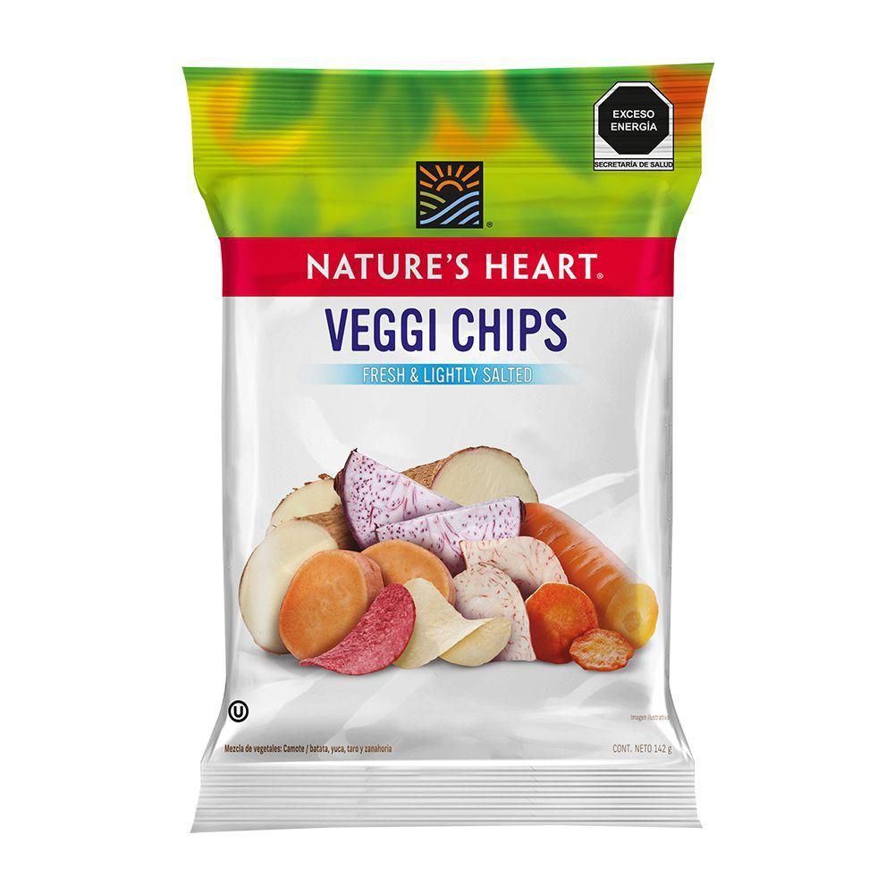 Botana de vegetales veggi veggi chips