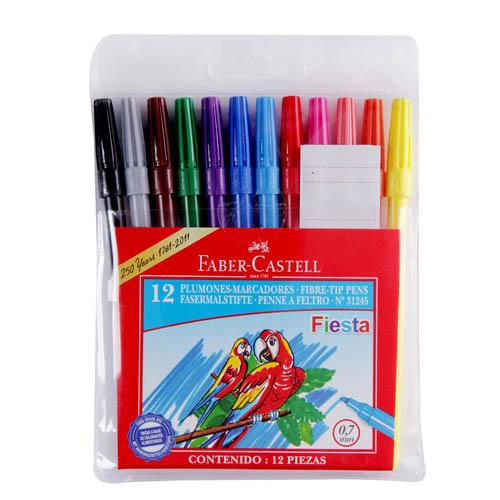 Faber-Castell, Marcadores 12 colores