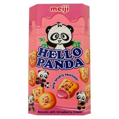 Hello panda creme-filled cookies  - strawberry 1pc
