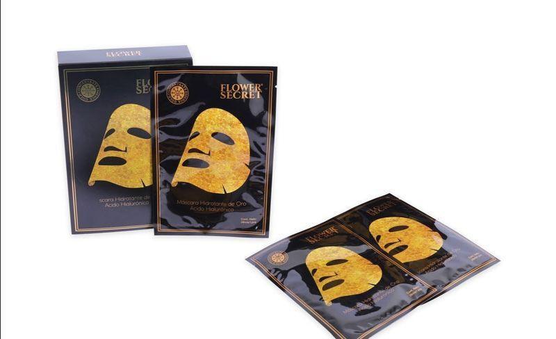 Mascara hidratante de oro con acido hialurónico