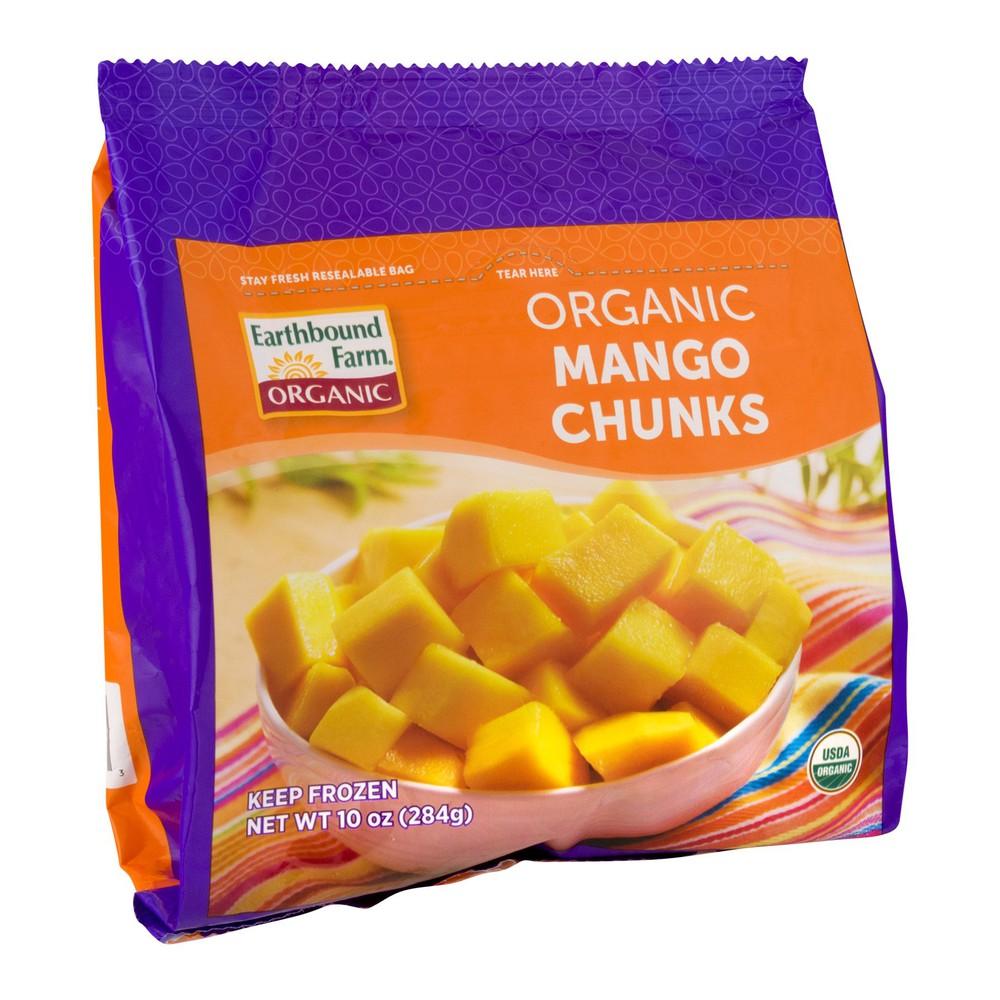 Earthbound organic frozen mango chunks 300g