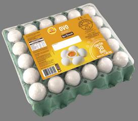 Ovos grandes brancos 30 unidades