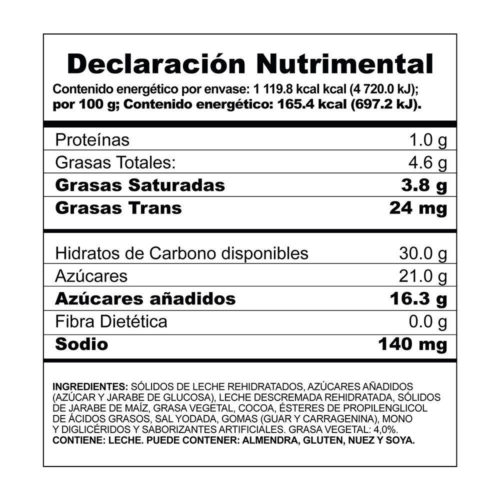 Helado sabor chocolate