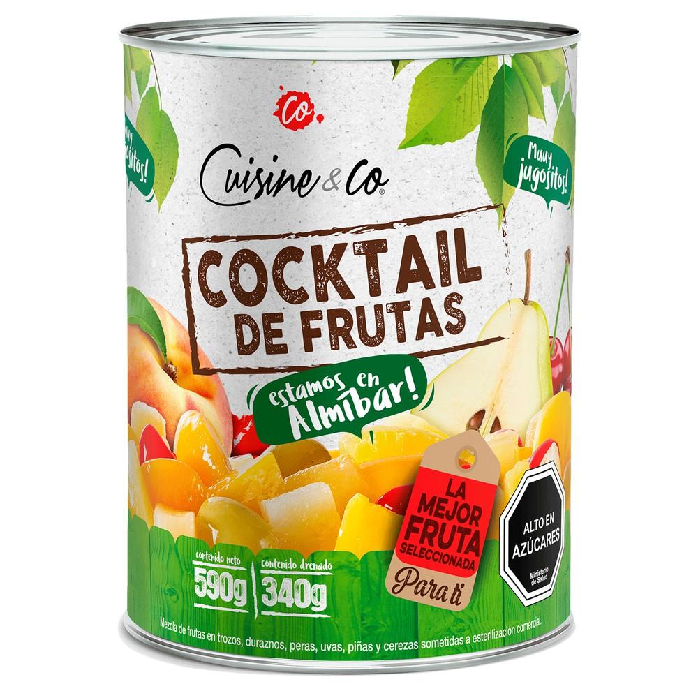 Cocktail de frutas en almíbar