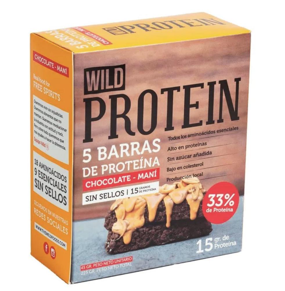 Barra de proteína Wild protein chocolate maní