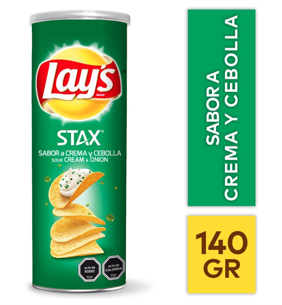 Papas fritas Stax crema y cebolla