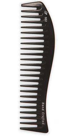 Curved fine and wide tooth 8.5 inch hard rubber comb 1 PC