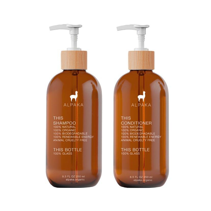 Set regalo organic hair glass 250 ml x 2