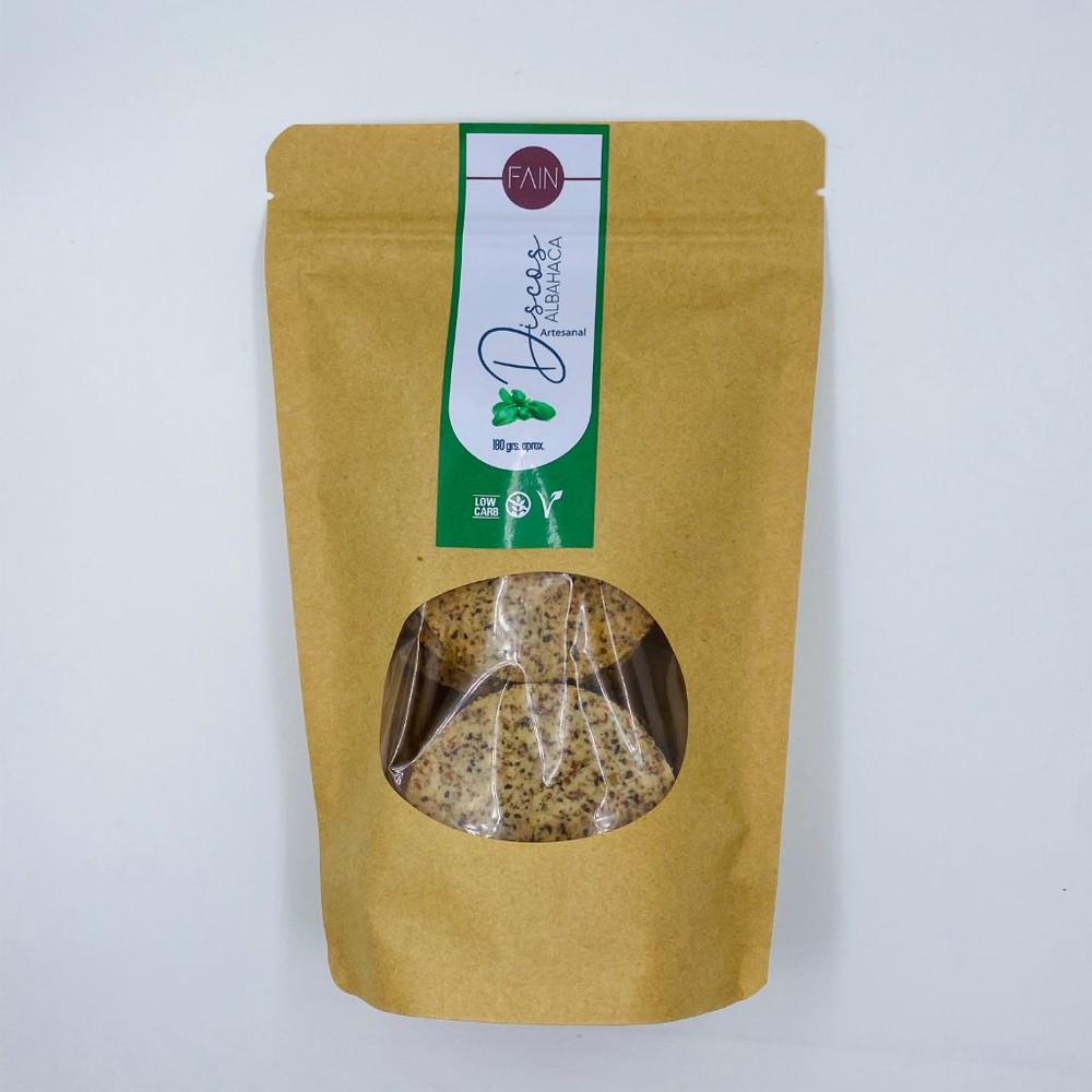 Discos de albahaca - KETO low carb - sin gluten Bolsa 180 gr