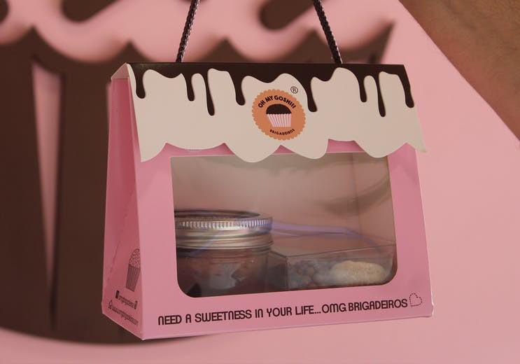 Gift pink bag