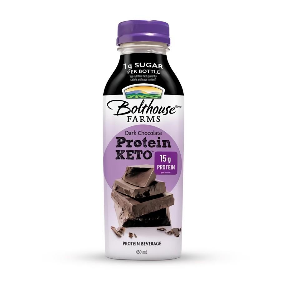 Protein keto dark chocolate beverage