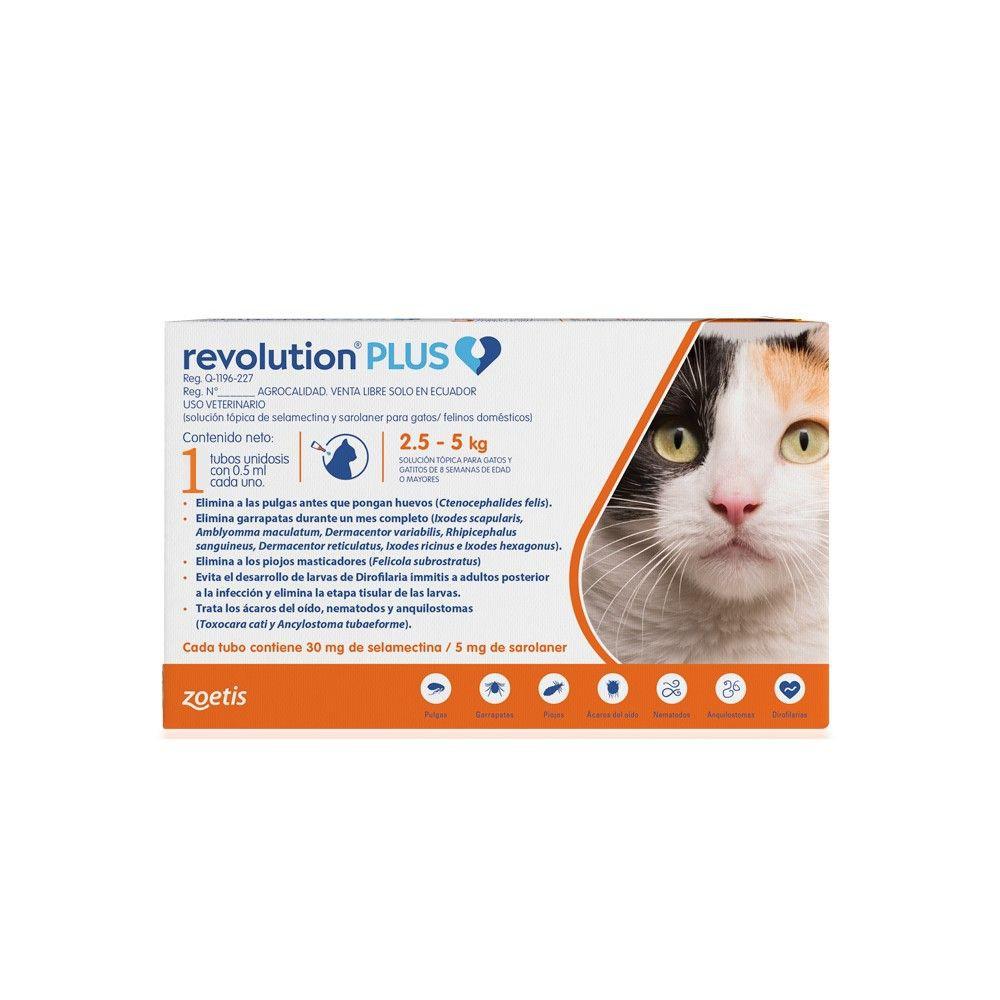 Revolution plus gatos 2,5 a 5 kg