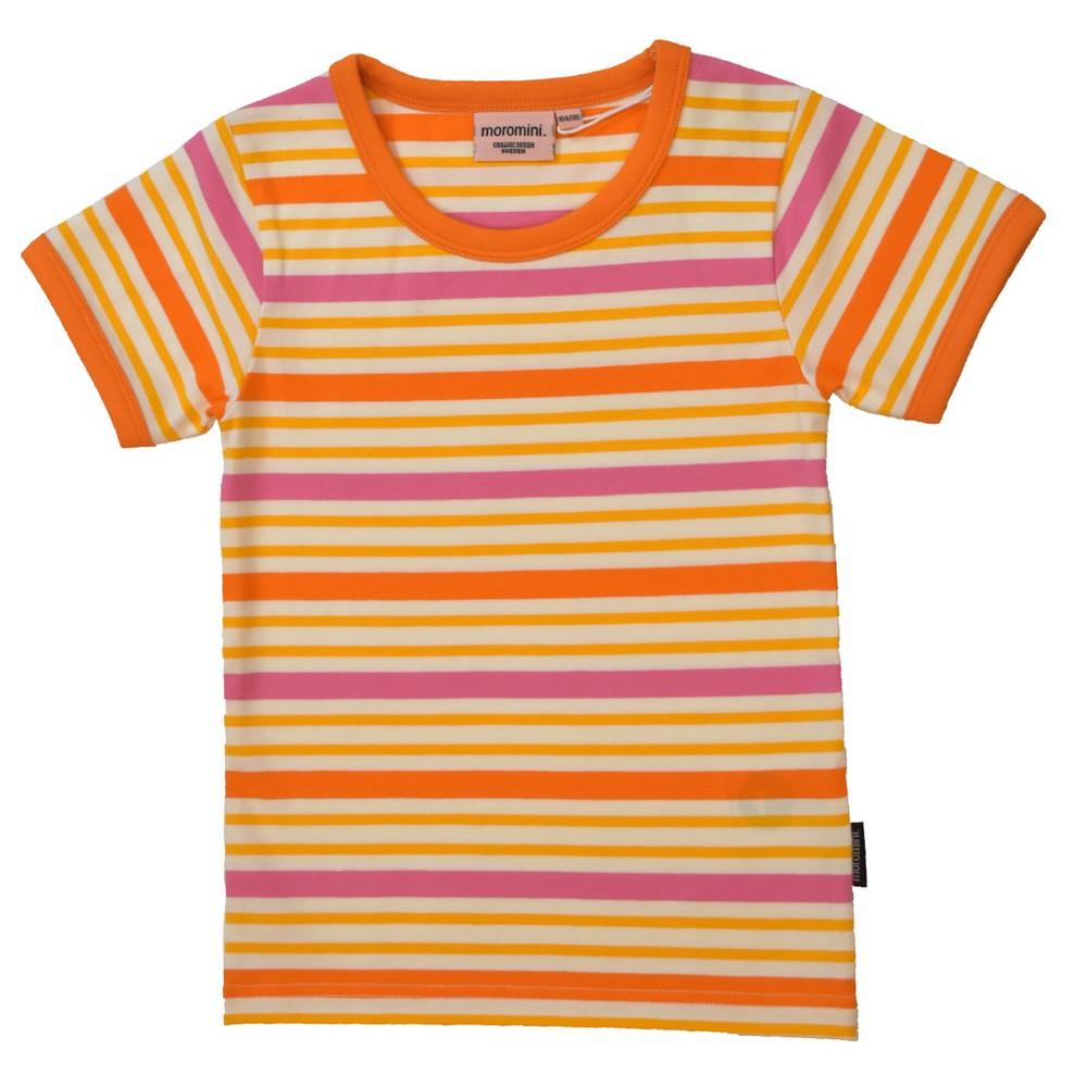 Polera m/c - moromini - orange stripes