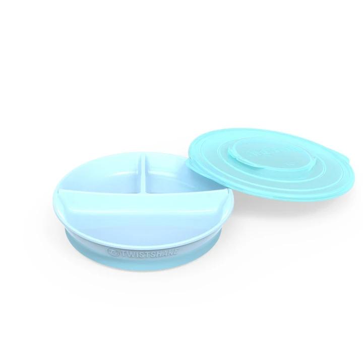 Plato dividido +6 meses azul pastel