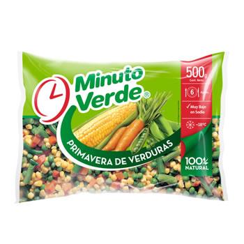 Primavera de verduras congeladas