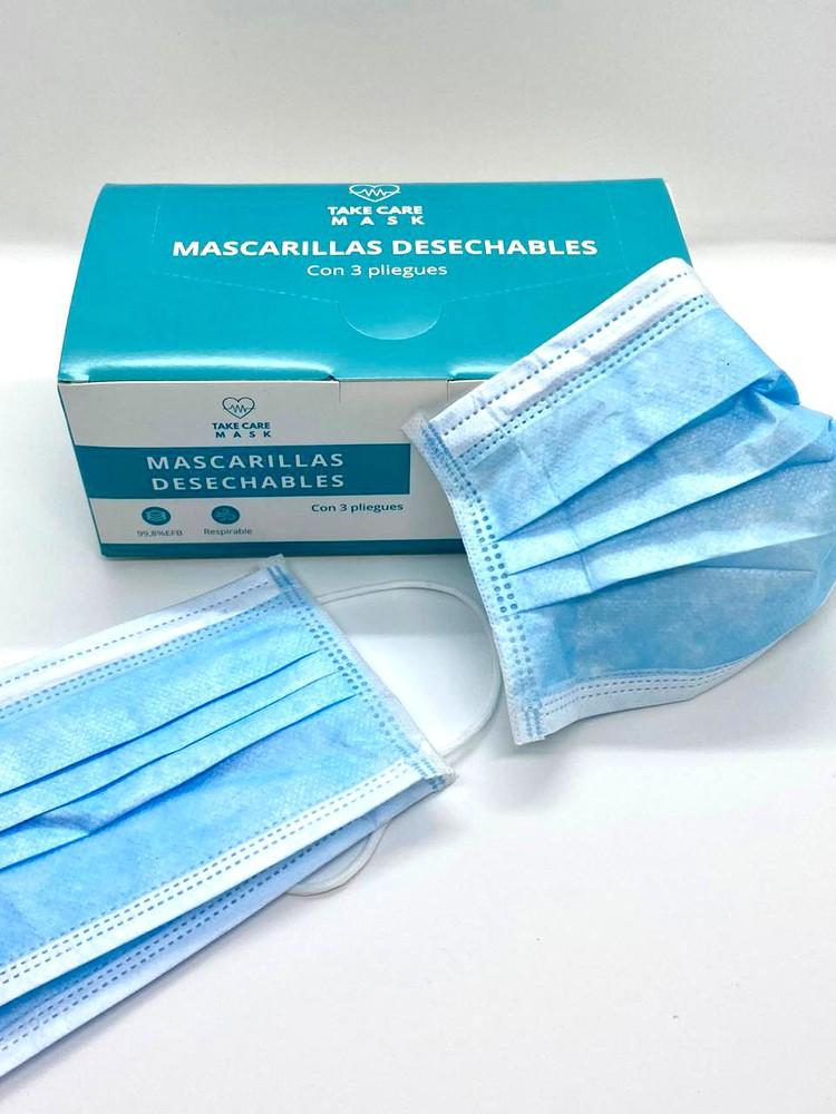 Mascarilla desechable Pack 50 un, 17.5 x 9.5cm