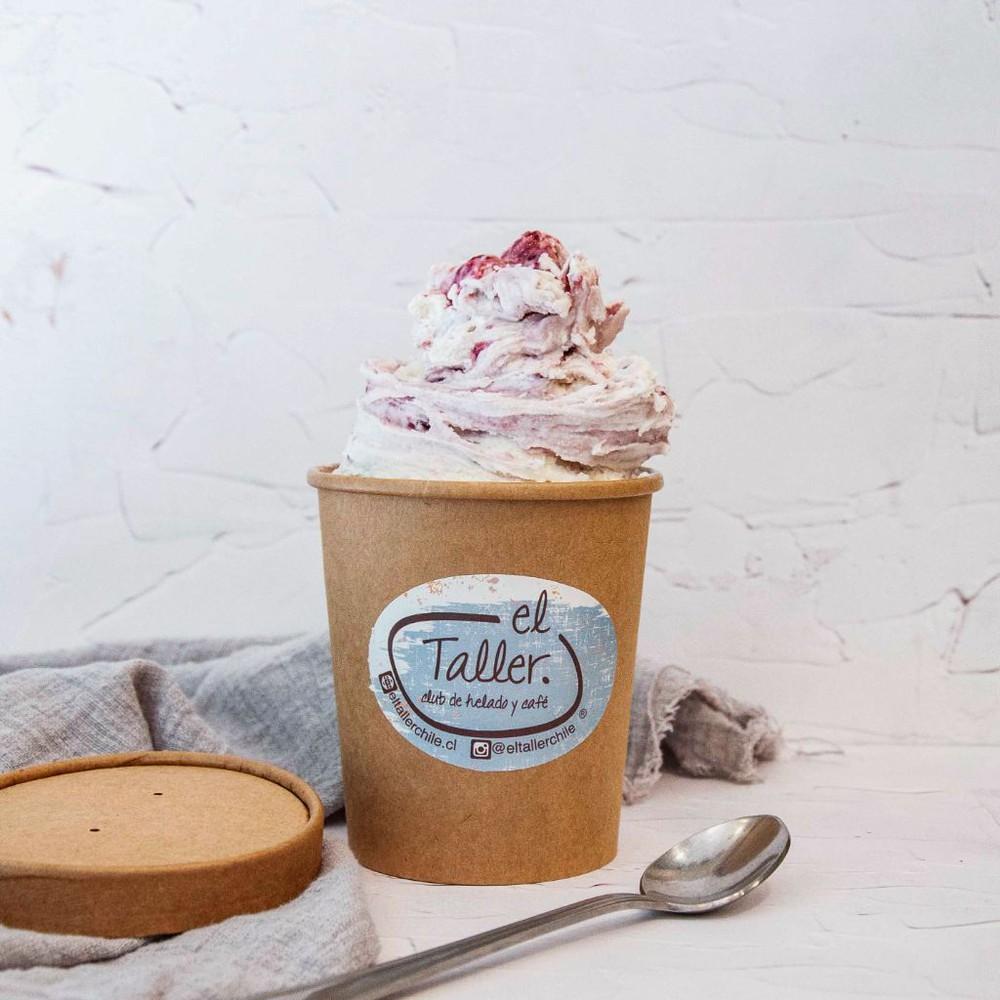 Helado cheesecake frambuesa keto (low-carb) Pote 16 oz (½ L aprox)