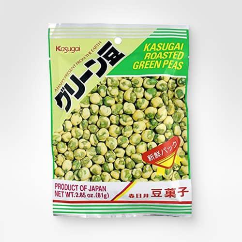 Roasted green peas
