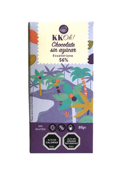 Chocolate sin azucar 56% cacao