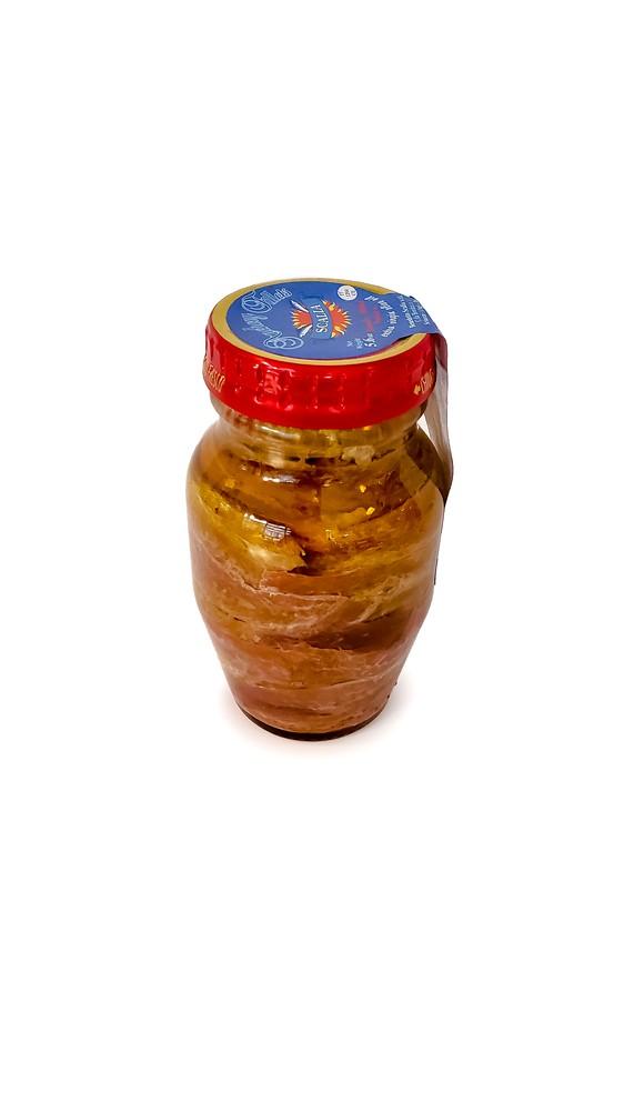 Jar of sicilian anchovies