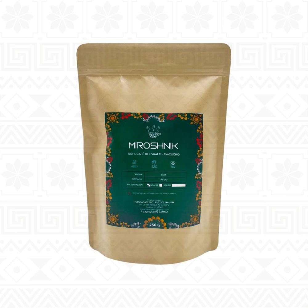 Café tostado en grano 250 g