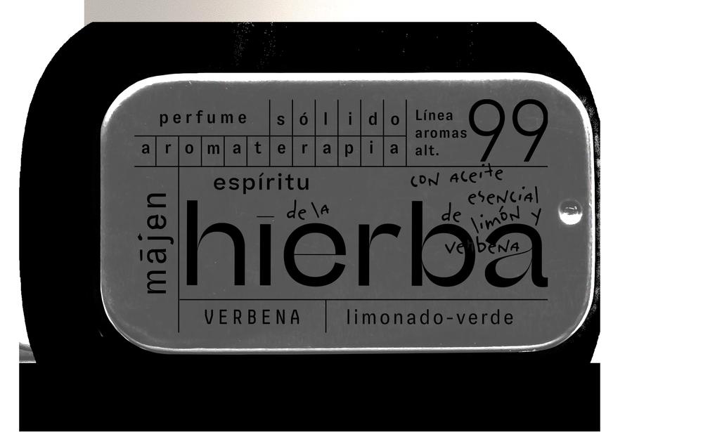 Perfume solido aromaterapia espiritu de la hierba - limon verbena Envase metalico 20 ml