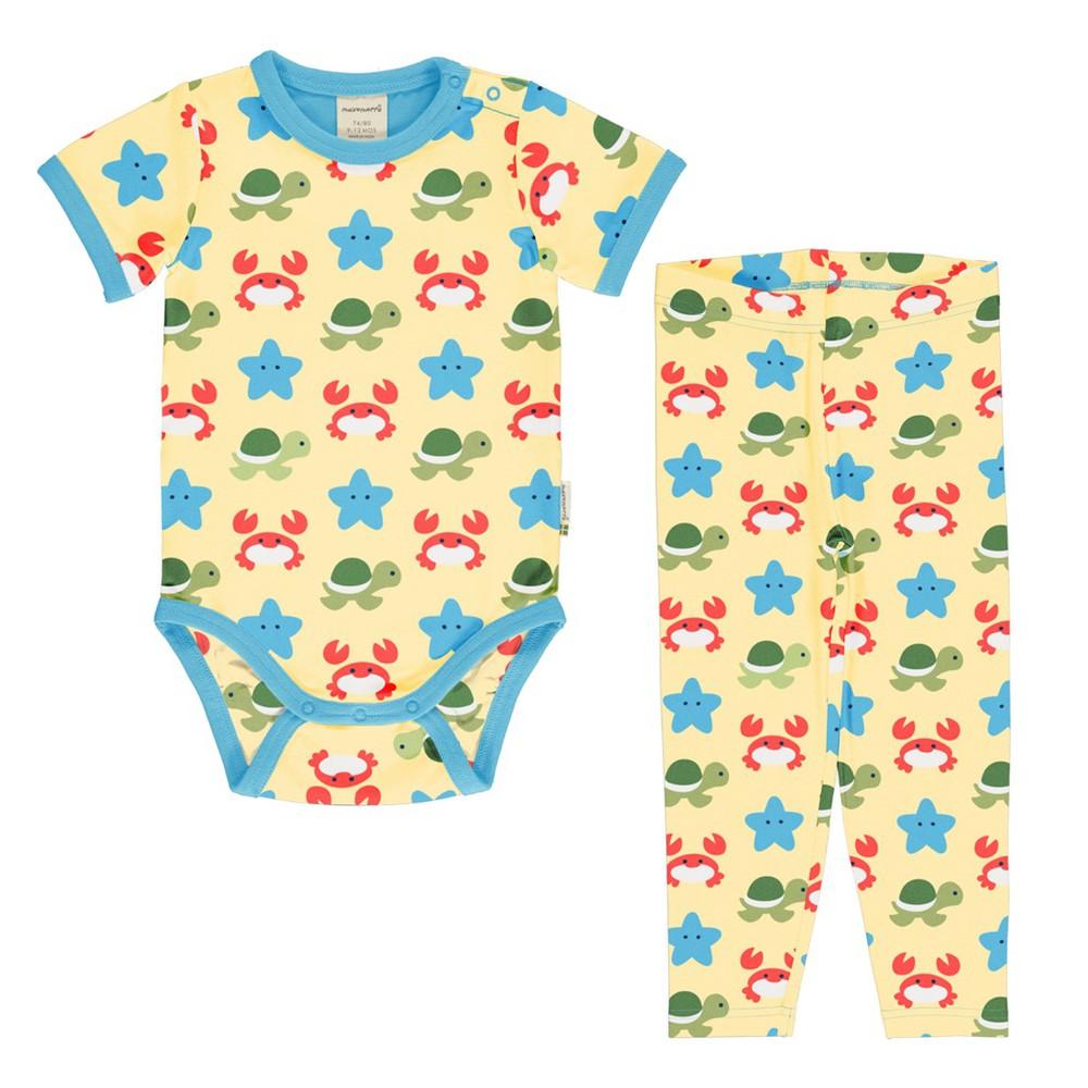 Set bebé - maxomorra - beach buddies body pants