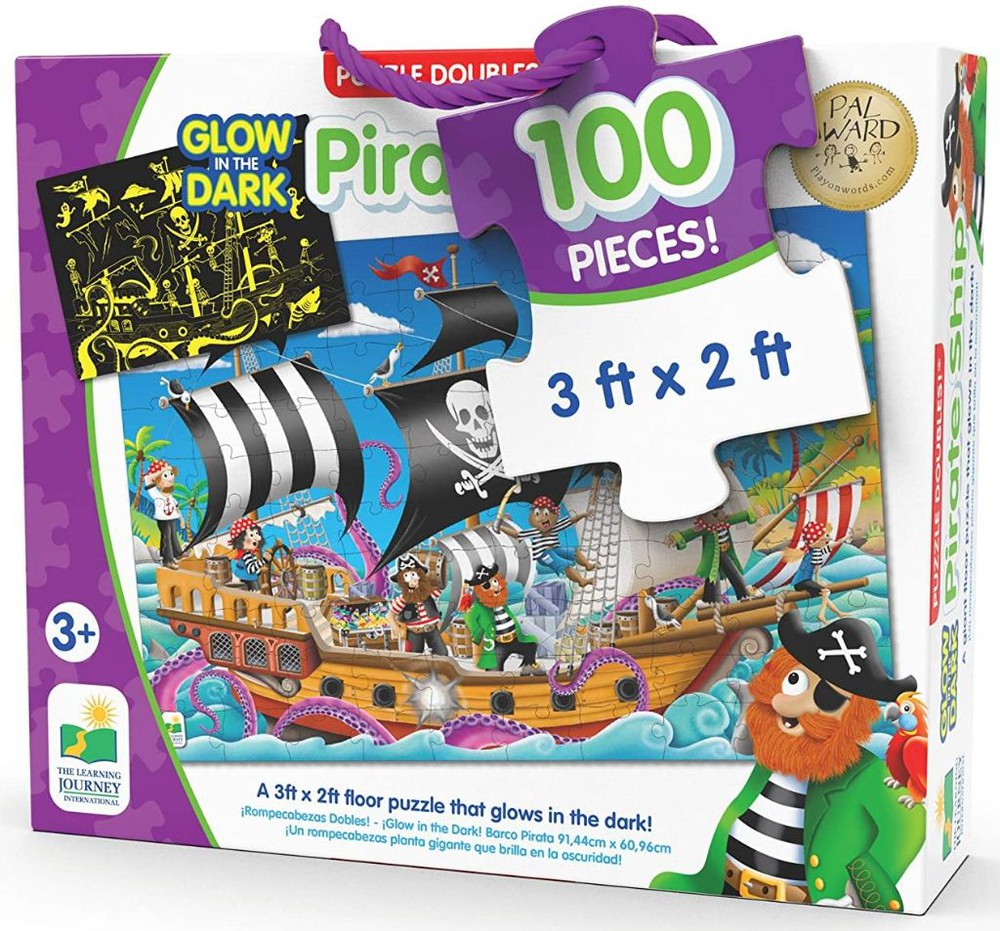 Pirate ship glow in the dark puzzle