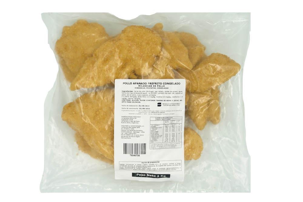 Milanesa de pollo 1 kg Bolsa de 1 Kilo