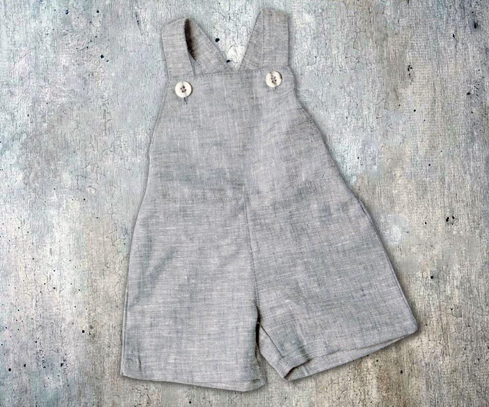 Jardinera tomás gris Talla 6-9 meses