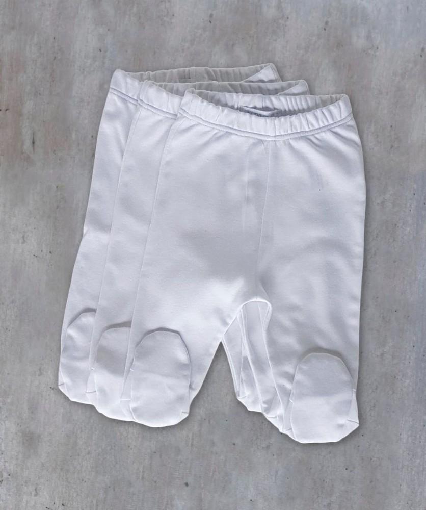 Pack 3 patitas blancas Talla RN (Recién nacido)