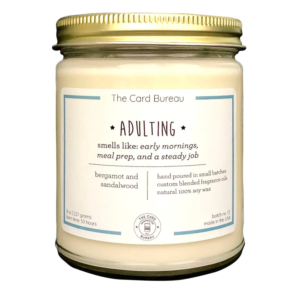 Adulting soy candle 8 OZ