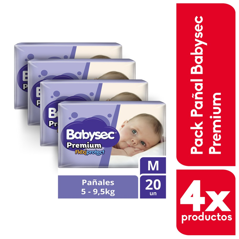Pack pañales Premium Flexiprotect  M