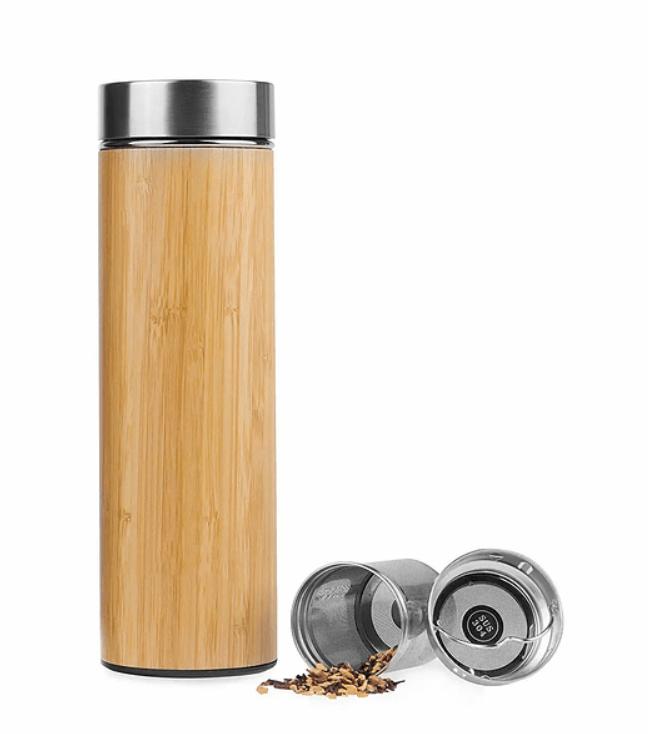 Termo de acero inoxidable con infusor 500 ml Caja