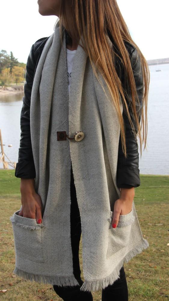 Bufandón gris