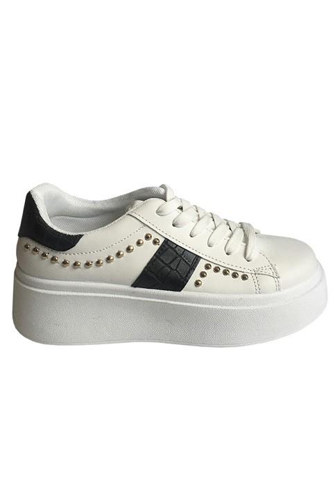 Zapatillas ecocuero negro