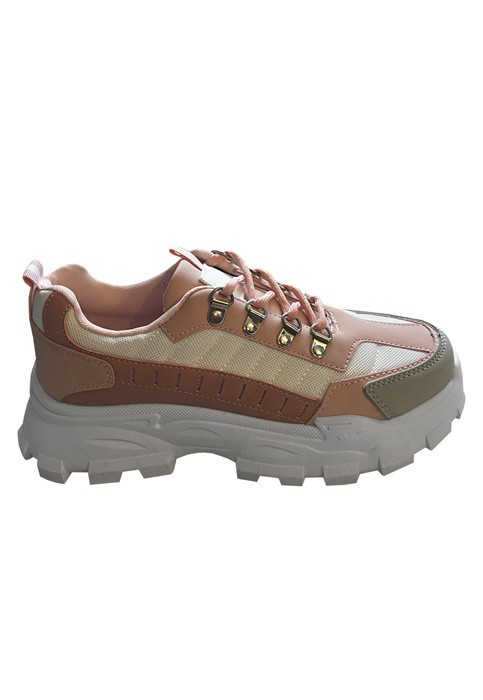 Zapatillas ecocuero rosa
