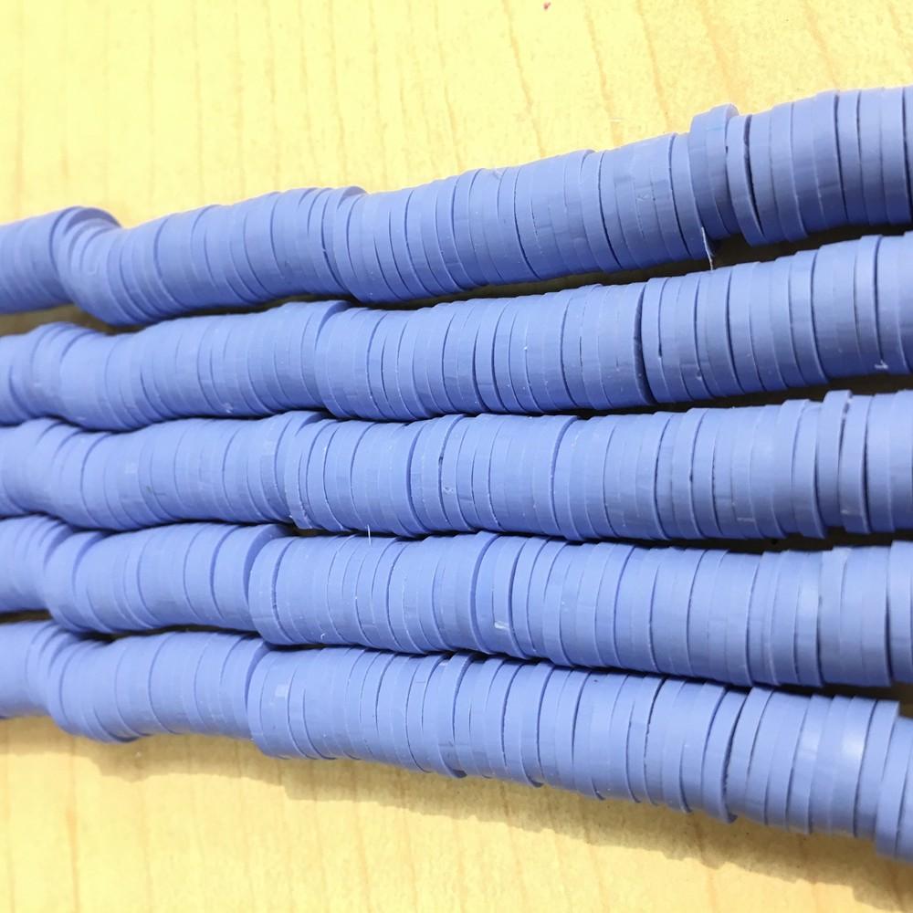 Cornflower blue heishi beads