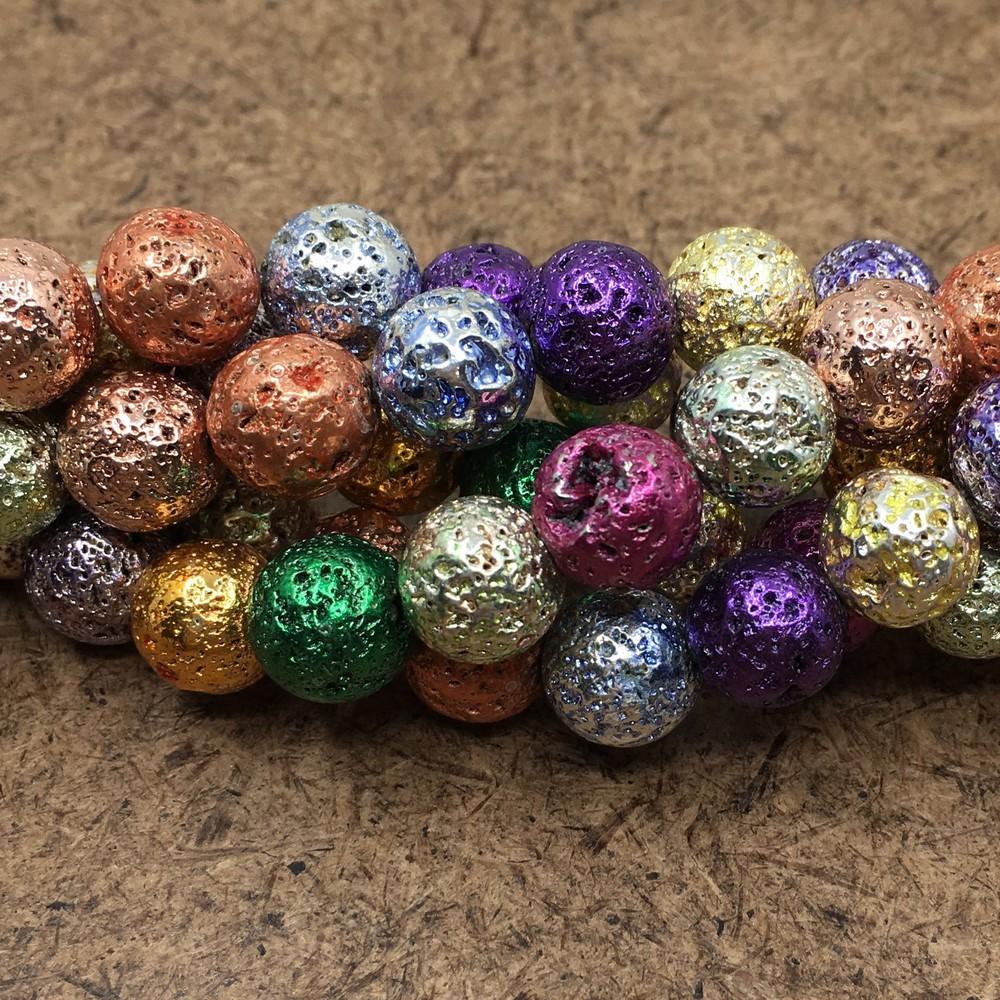 Multicolored lava bead