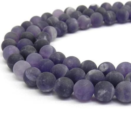 Frosted amethyst bead